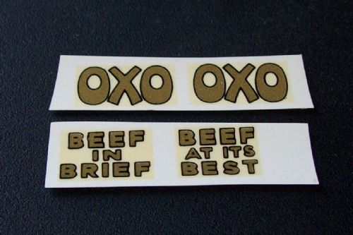 "Dinky Toys 28 Series Type 1 van ""OXO"" Transfer Set TRANSFERS / DECALS"
